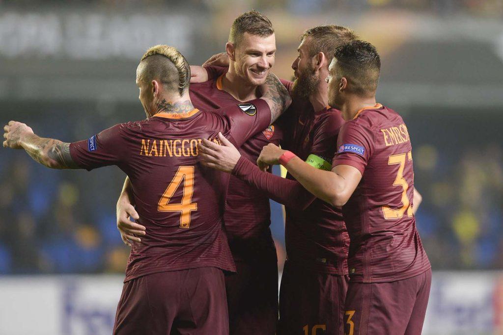 Roma yang bertandang ke markas Villarreal menang telak 4-0. Bermain di