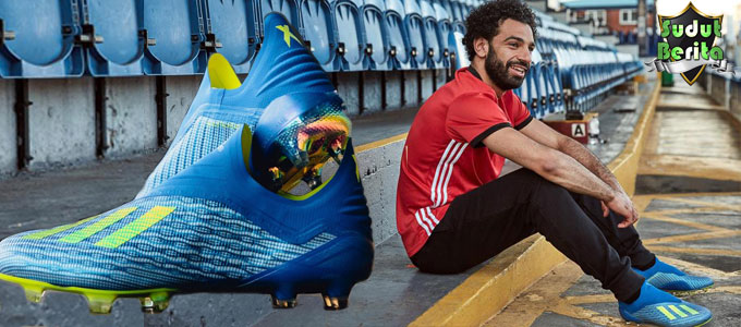 Mohamed Salah Incar Kemenangan Dengan Sepatu Baru Adidas X18+